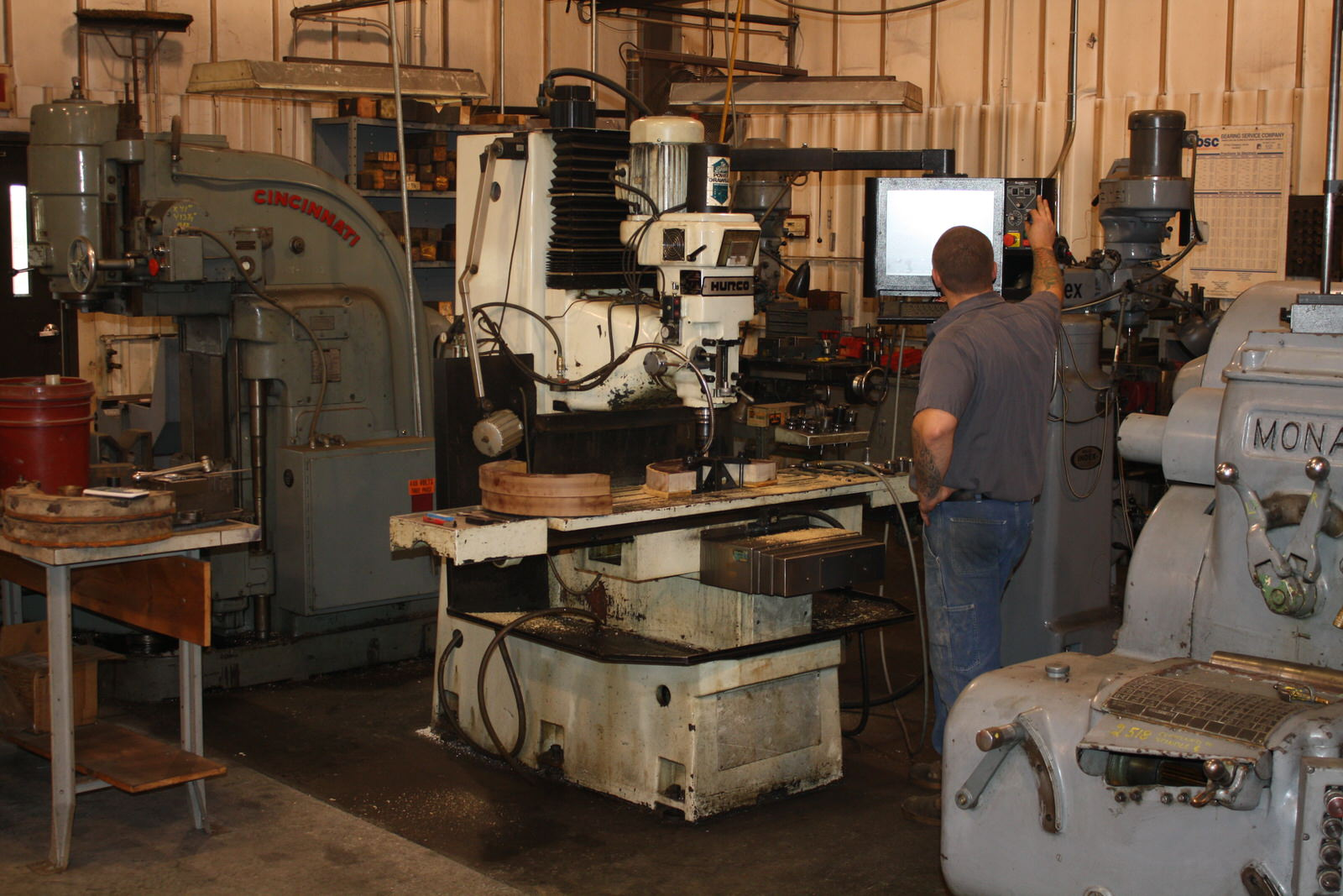 Equipment capabilities of bos machine tool services for Parlour equipment